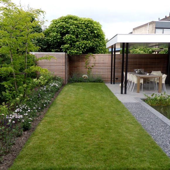 Betaalbaar tuinontwerp in 3d door hovenier in sint for Strakke tuinen met siergrassen