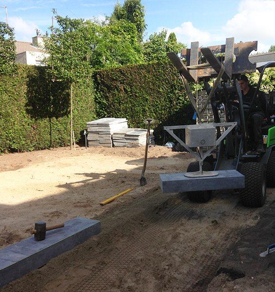 Tuin aanleg grondwerk