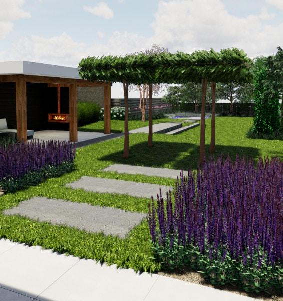 Tuin ontwerpen 3d latest oprit en ommuurde tuin ontwerp for 3d tuin ontwerpen