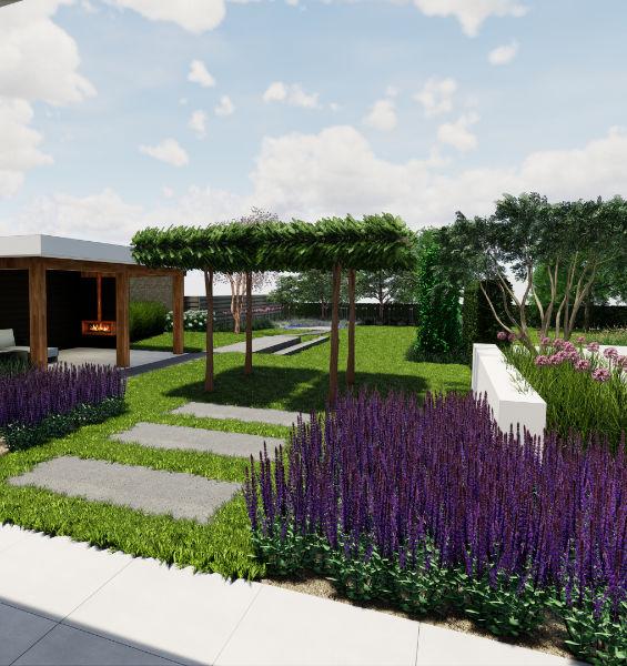 Tuinontwerp met gratis visualisatie in Brabant door hovenier en tuinman Van der Steen Tuinen